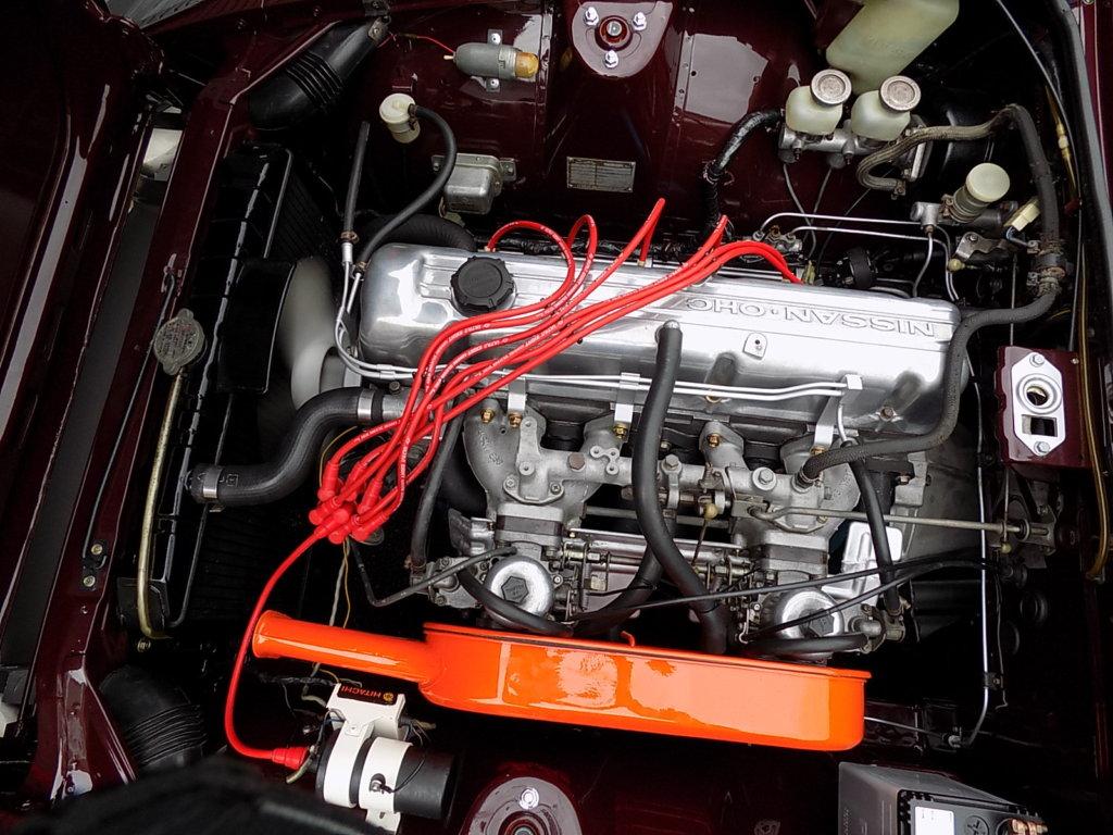 フェアレディZ 240ZG エンジンルーム L24エンジン SUツインキャブ